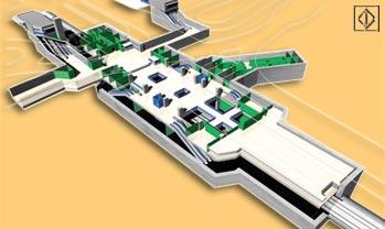 Imagem de como será a futura estação São Paulo-Morumbi da Linha 4